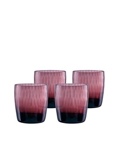 Artland Set of 4 Pebble 12-Oz. Double Old Fashioned Glasses, Purple