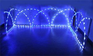 ガーデンフェンス、LED150球