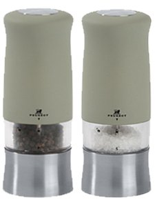 Peugeot Zephir Electric Pepper Mill, Soft-Touch Flint