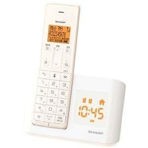 シャープ デジタルコードレス電話機 親機のみ 1.9GHz DECT準拠方式 バニラホワイト JD-BC1CL-W