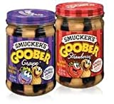 #6: Smuckers Goober Variety pack, Grape and Strawberry!! (2 Pack)
