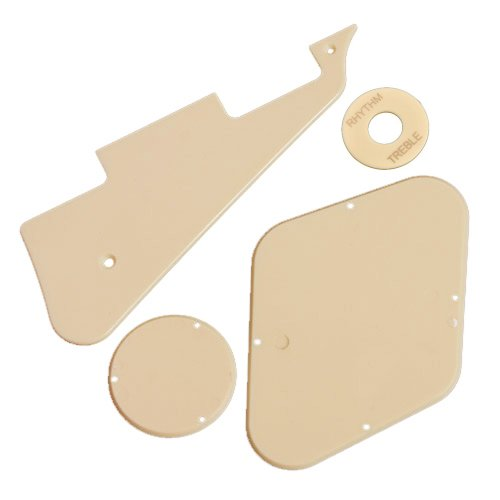 1Set(Pickguard/Cavity /Switch Covers/Pickup Selector Plate)For Lp Guitar Cream