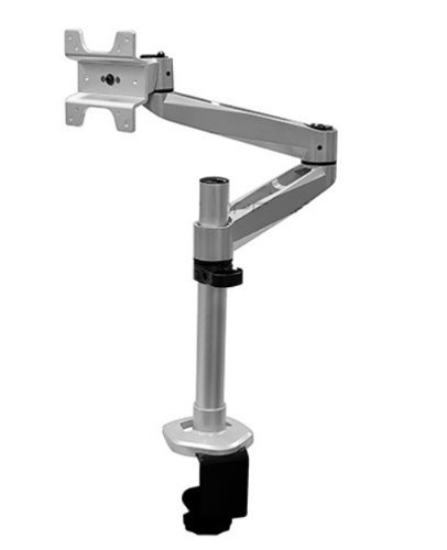 Mount-It! Full Motion Aluminum Articulating Dual Arm Computer Monitor Desk Mount For Apple Displays, Silver (Mi-33116A)