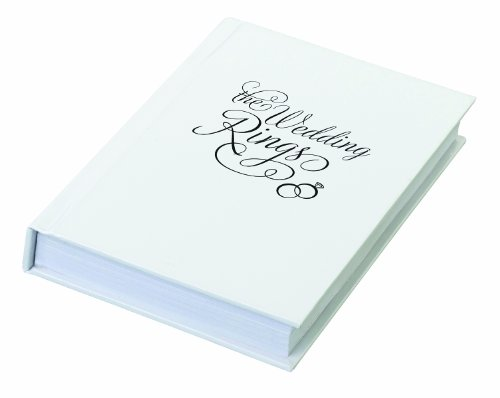 Lillian Rose The Wedding Ring Book Box, 4.25-Inch by 6-Inch