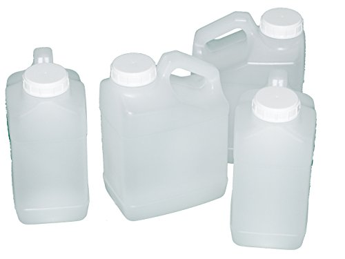 Jug, 1 Gallon, Wide Mouth, F-Style, plastic, natural color, Pack of 4 (Bpa Free Water Jug 1 Gallon compare prices)