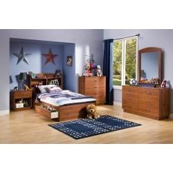 Cheap Kids Bedroom Furniture Set in Sunny Pine – South Shore Furniture – 3342-BSET-1 (3342-BSET-1)
