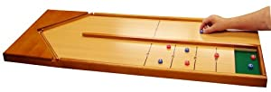 POOF-Slinky 34300 Ideal Wooden Tabletop Shuffleboard Game, 47.5-Inches Long, Brown