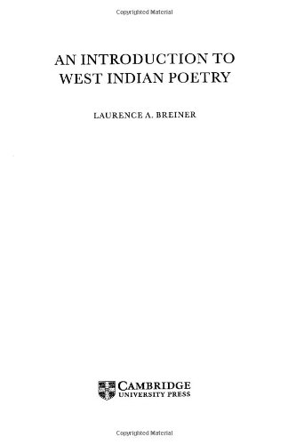 An Introduction to West Indian Poetry Hardback
