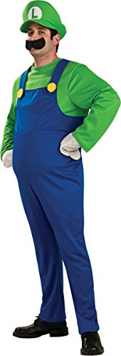 Rubie's Costume Co Men's Super Mario Luigi Costume, 46-52