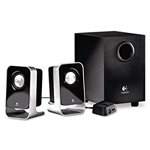 LOGITECH LS21 2.1 Stereo Speaker System W/ Sub-Woofer Auxiliary Input & Headphone Jacks
