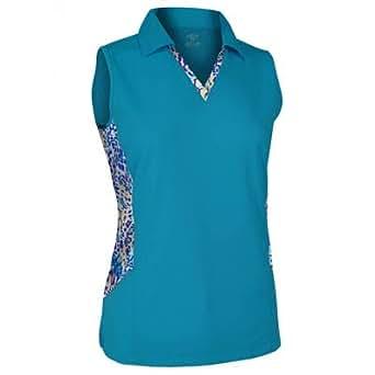 Monterey club ladies plus size water line for Plus size sleeveless golf shirts