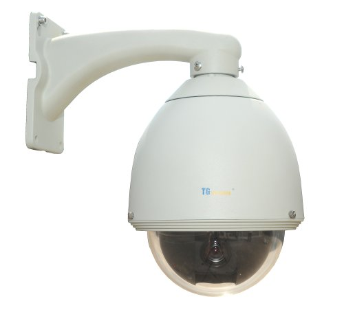 TG Security ED200A High-Speed Dome Camera with PTZ Control Function (White)