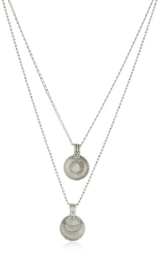 Satya Jewelry Silver Sun And Moon Necklace