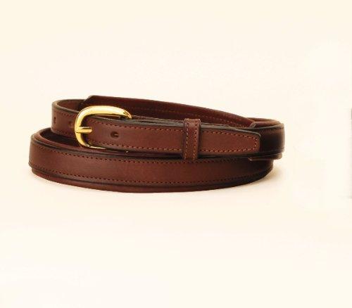 "Tory Leather 3/4"" Padded Leather Belt - Havana / Havana Padding, 34"
