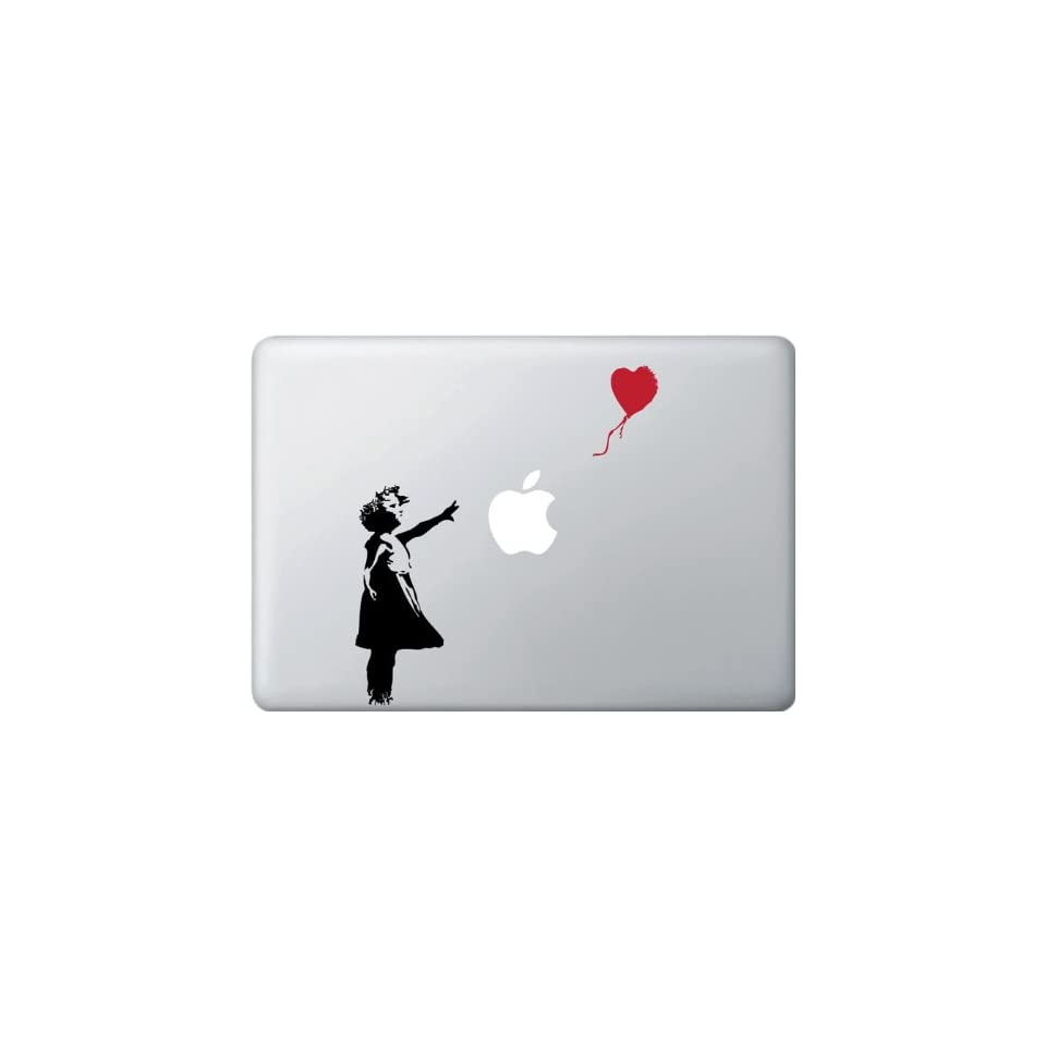 Girl with Red Balloon   Vinyl Laptop or Macbook Decal