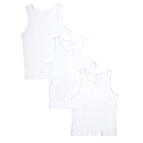 bluezoo Boy's Pack Of Three Sleeveless Vests