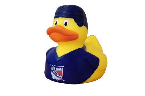 NHL New York Rangers Rubber Duckie with Squeak Noise Effect -PACK OF 3