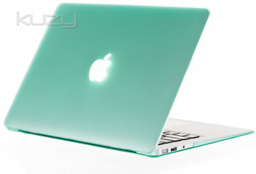 Kuzy - AIR 13-inch GREEN Rubberized Hard Case Cover Satin for NEW Apple MacBook Air 13.3