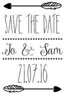 personalizzato-timbro-di-nozze-piuma-freccia-save-the-date