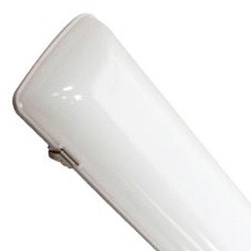 4998 Lumens - 99 Lumens Per Watt - 50 Watt - Led - 4 Ft. Vapor Tight Fixture - 4000K - Cool White - 120-277V - White Finish - Maxlite Lsv4806Su50Dv40Ts