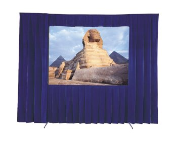 Da-Lite 8' x 8' Square Format Portable Rental Screen Dress Up Kit without Skirt Bar