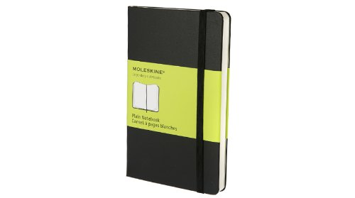 Moleskine Classic Notebook, Pocket, Plain, Black, Hard Cover (3.5 x 5.5) (Classic Notebooks)