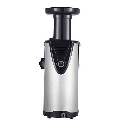 Obreko vertical Single Auger Low Speed Masticating Juicer Stainless Steel Compact Juice Fountain ...