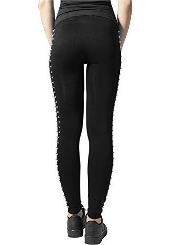 Urban Classics Ladies Side Rivets Leggings Leggings nero S