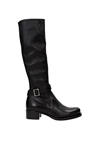 1W087GNERO-Prada-Bottes-Montantes-Femme-Cuir-Noir