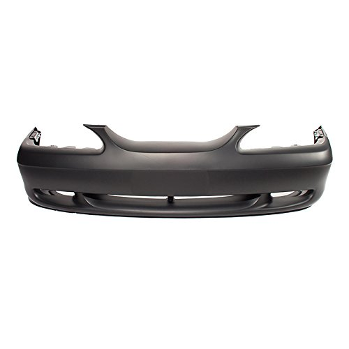 CARPARTSDEPOT 94-98 Ford MUSTANG FRONT BUMPER COVER PRIMERED PLASTIC FOG HOLE BASE GT WO COBRA (Cobra Bumper Cover compare prices)