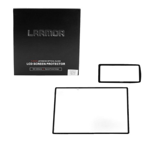 Larmor 0.5Mm Self-Adhesive Optical Glass Lcd Screen Protector For Nikon D7100