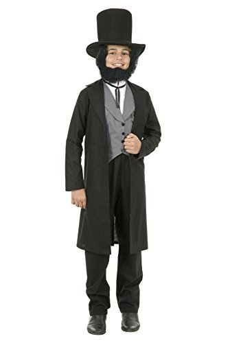 Boys Abraham Lincoln Costume with Vest and Hat Accessory