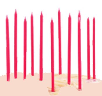 TAG Birthday Party Cupcake / Cake Candles, Set of 12, Pretty in Pink