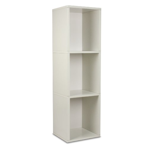 Way Basics Cube Plus Eco-Friendly Modern 3-Shelf Storage Unit, White
