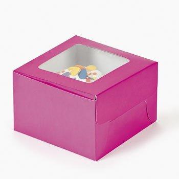 FE Dozen Hot Pink Cupcake Boxes