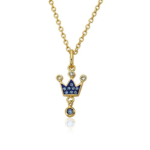 "Molly Glitz ""Pretty Princess"" 14k Gold Plated Blue Crystal Crown with …"