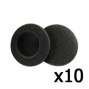 """Bluecell 10 Pair Of Black Color Replacement 2"""" (50Mm) Foam Pad Earpad Cover Cushion For Sennheiser Px100 Sony Mdr-G57 Headphones"""
