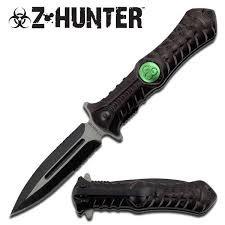 Zombie Z-Hunter Biohazard Black Folding Knife