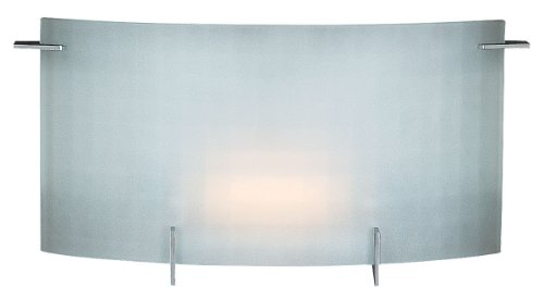 Access Lighting 62051-CH Oxygen 1-Light Wall/Vanity Sconce, Chrome with Checkered Frosted Glass
