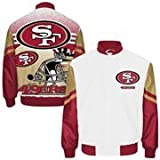 San Francisco 49ers City Scape Sublimated Jacket White (WHITE/GOLD/RED, 4X- LARGE)