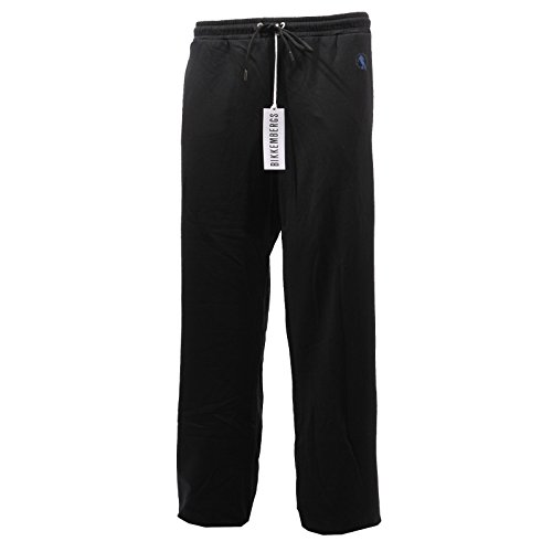 B0740 pantaloni tuta uomo BIKKEMBERGS nero trousers men [XXL]