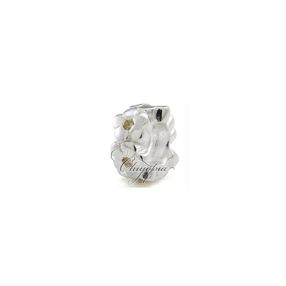November Crystal Flower Ring Chiyopia Pandora Chamilia Troll Compatible Beads