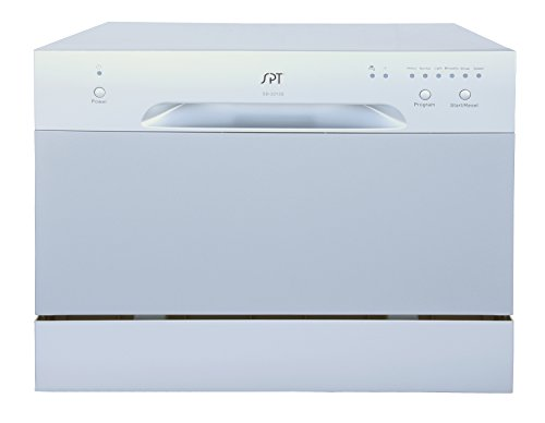 Countertop Dishwasher With Heated Dry : ... Countertop Dishwasher With Delay Start & Led, Silver [Major Appliances
