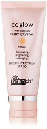 dr. brandt CC Glow with Signature Ruby Crystal, Light to Medium, 1 oz.