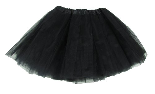 Black 5 Layer Dance Or Ballet Tutu front-957690