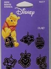 Mini Brass Stencil Pooh Charms Disney 46517