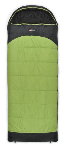 Chinook Everest Comfort Hooded Rectangular Synthetic 15-Degree Sleeping Bag, Green