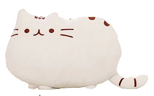 可愛すぎる 猫 クッション ふわふわやわらか 癒し 抱き枕にもなります オフィス 勉強 机 インテリア としても (5.白+開運ねこちゃんストラップのセット)