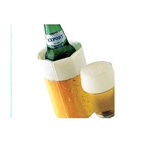 【クリックで詳細表示】VACUVIN ラピッドアイス ビール柄 350ml缶&500mlボトル用 38549: ホーム&キッチン