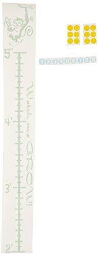 Wall Decor Plus More WDPM136 Monkey Wall Vinyl Sticker Growth Chart 2-5 Feet with Age Markers, Lime Green